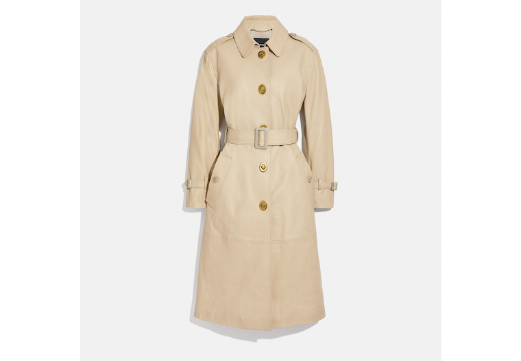 Lightweight Leather Trench image number 0