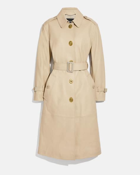 Lightweight Leather Trench
