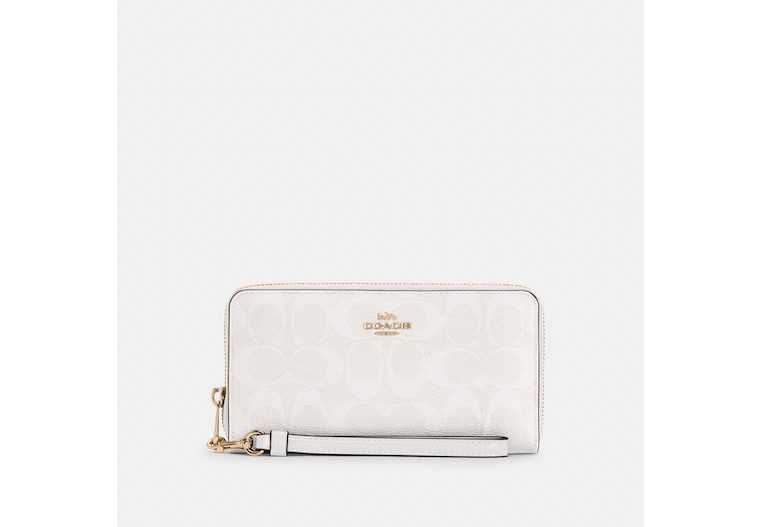Long Zip Around Wallet In Signature Canvas image number 0