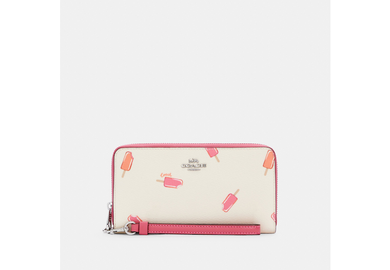 Long Zip Around Wallet With Popsicle Print image number 0