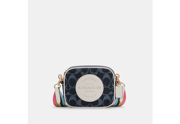 Mini Dempsey Camera Bag In Signature Jacquard With Coach Patch image number 0