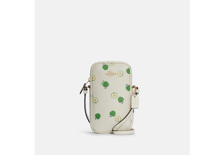 North/South Zip Crossbody With Apple Print image number 0