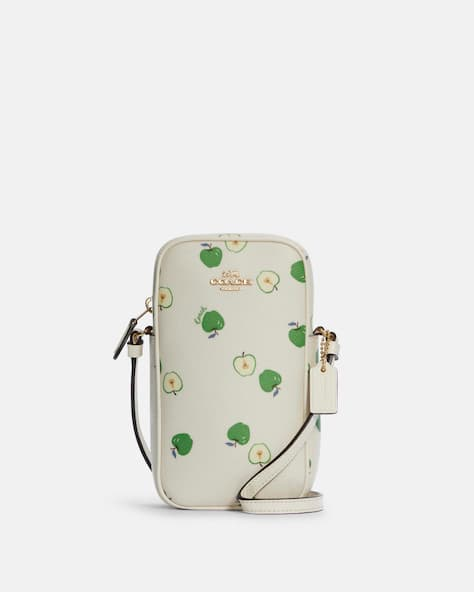 North/South Zip Crossbody With Apple Print