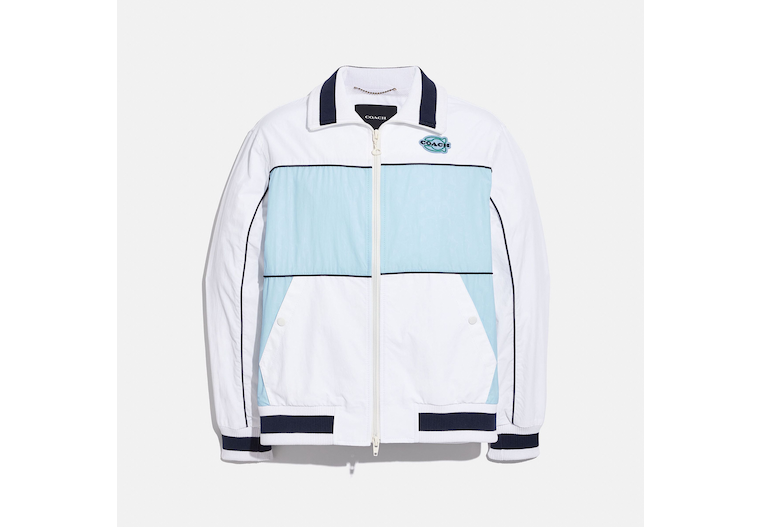 Colorblock Mashup Windbreaker In Recycled Nylon image number 0