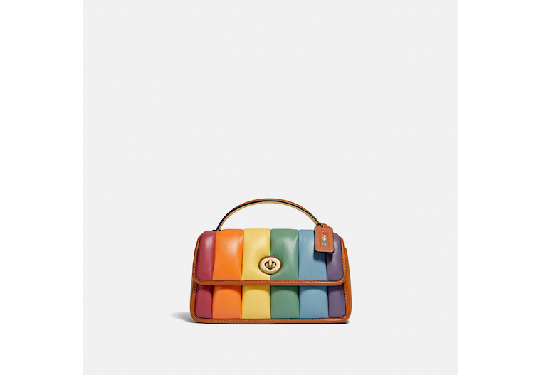 Turnlock Clutch 20 With Rainbow Quilting image number 0