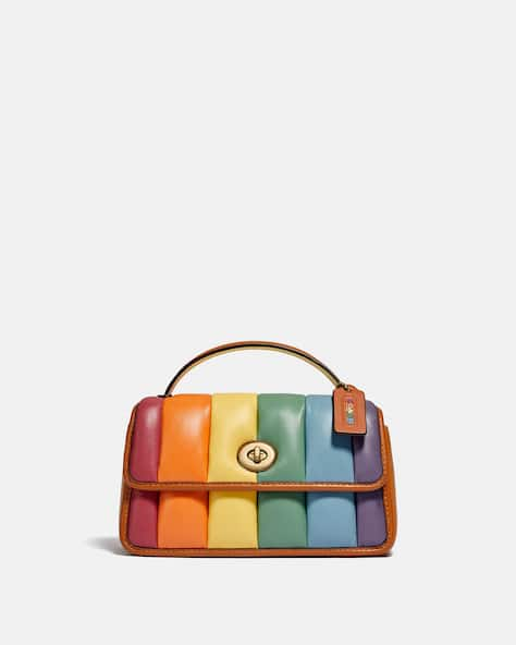 Turnlock Clutch 20 With Rainbow Quilting