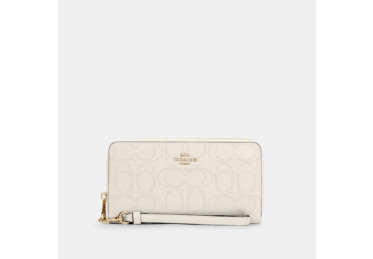 Long Zip Around Wallet In Signature Leather image number 0
