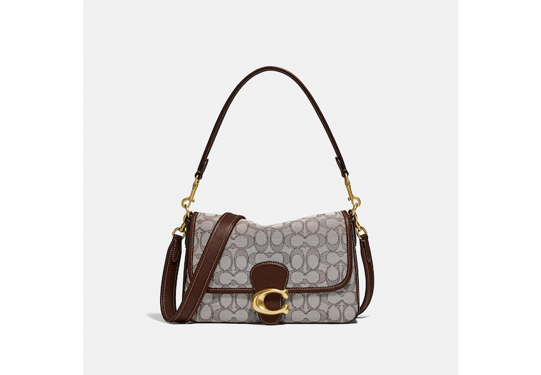 Soft Tabby Shoulder Bag In Signature Jacquard image number 0