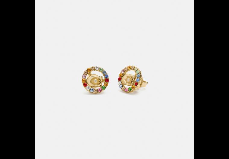 Signature Multicolor Crystal Stud Earrings image number 0