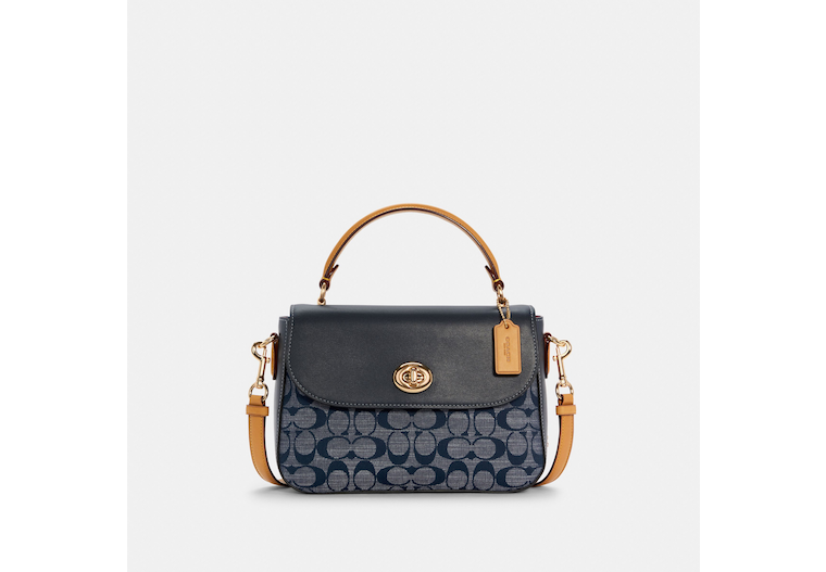 Marlie Top Handle Satchel In Signature Chambray image number 0