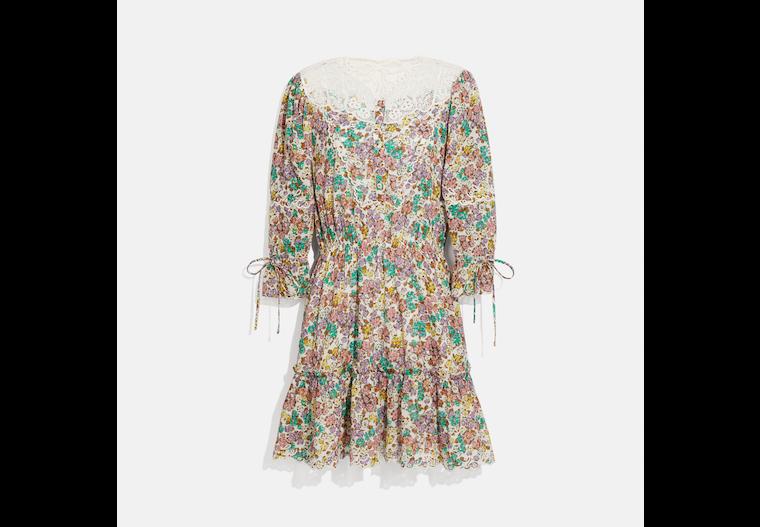 Printed Mini Tiered Dress image number 0