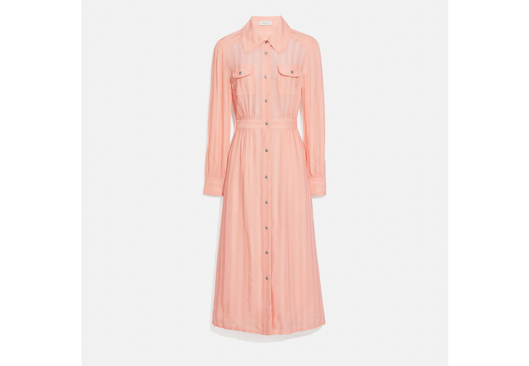 Long Striped Viscose Dress image number 0