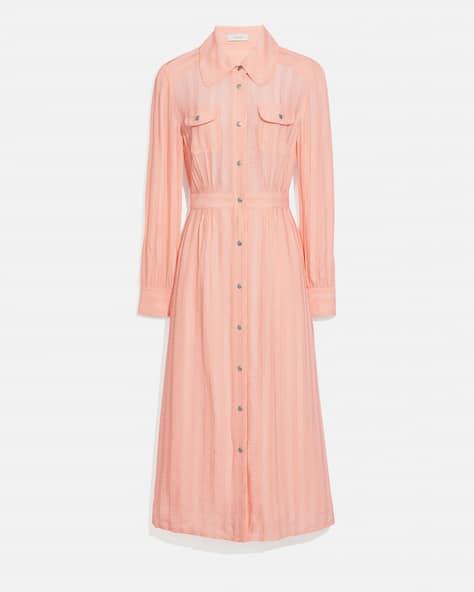 Long Striped Viscose Dress