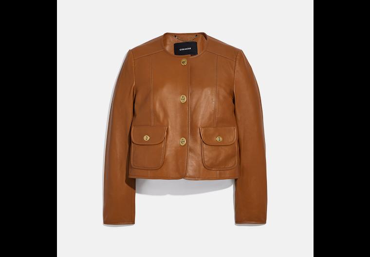 Cardi Leather Jacket image number 0