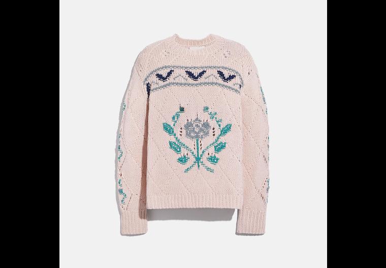 Pointelle Crewneck Sweater image number 0
