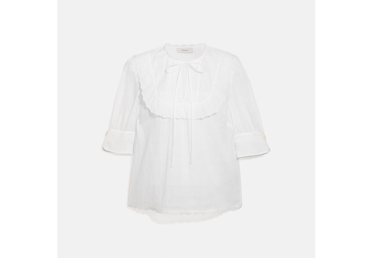 Broderie Anglaise Bib Shirt image number 0