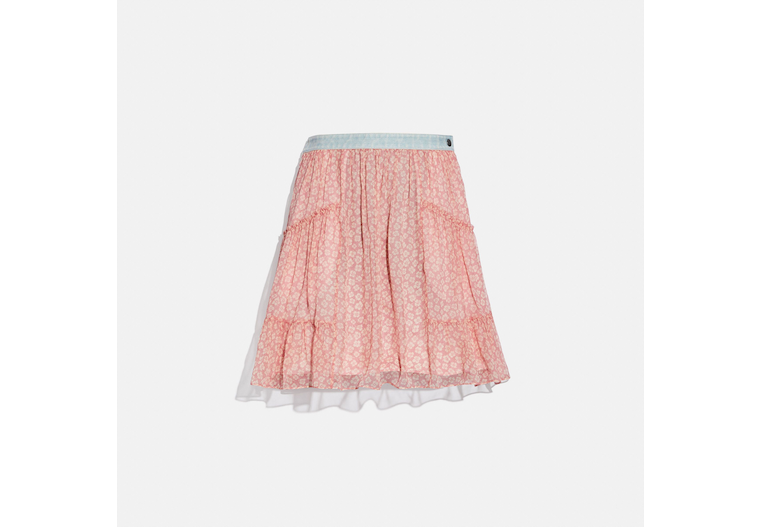 Denim Waistband Mini Skirt image number 0