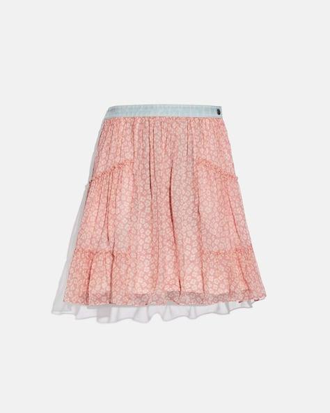 Denim Waistband Mini Skirt