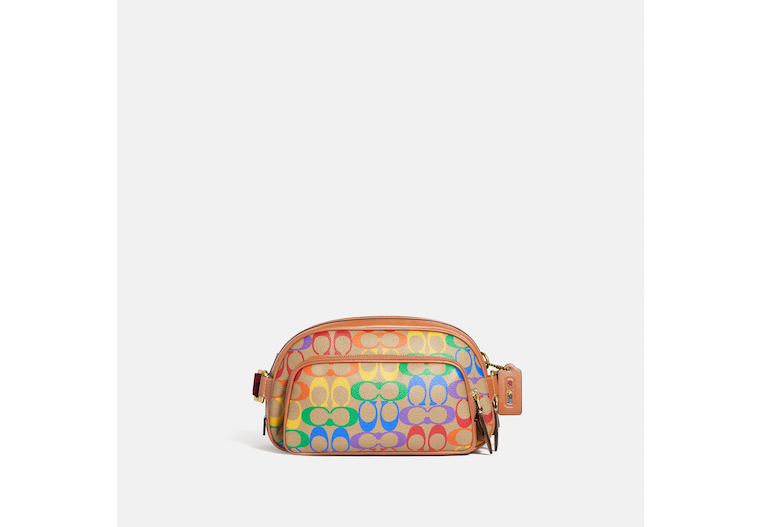 Hitch Belt Bag In Rainbow Signature Canvas image number 0