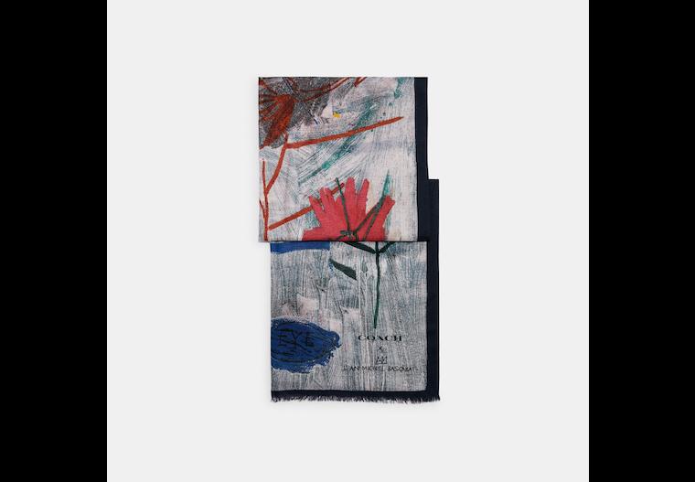 Coach X Jean Michel Basquiat Oblong Scarf image number 0