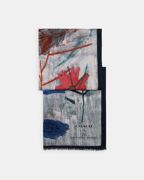Coach X Jean Michel Basquiat Oblong Scarf