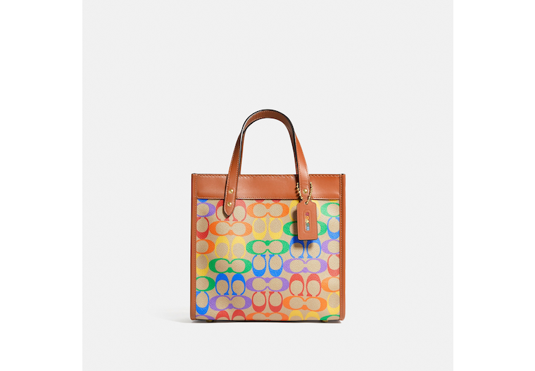 Field Tote 22 In Rainbow Signature Canvas image number 0
