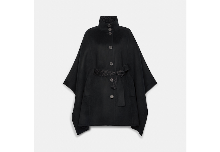 Double Face Wool Cape image number 0