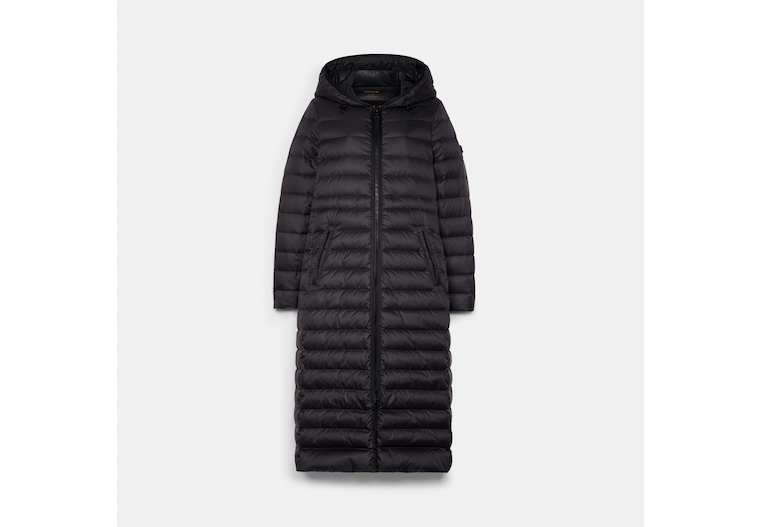 Long Down Coat With Hood image number 0