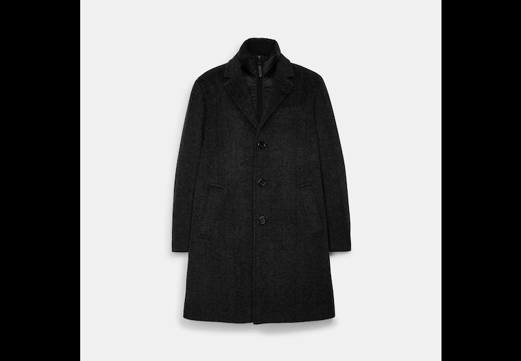 Herringbone Wool Top Coat image number 0