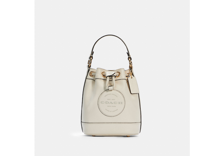 Dempsey Drawstring Bucket Bag 15 With Coach Patch image number 0
