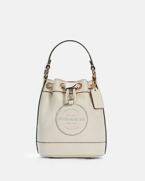 Dempsey Drawstring Bucket Bag 15 With Coach Patch
