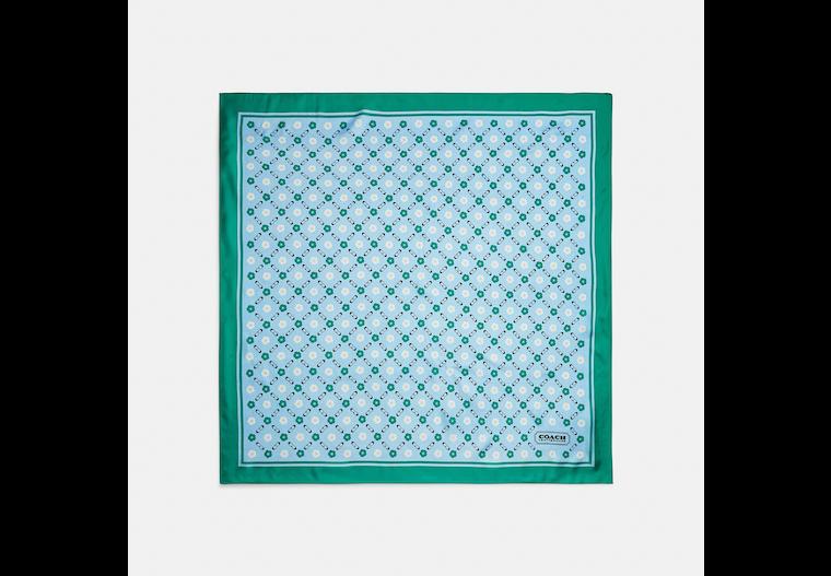 Tea Rose Print Silk Square Scarf image number 0