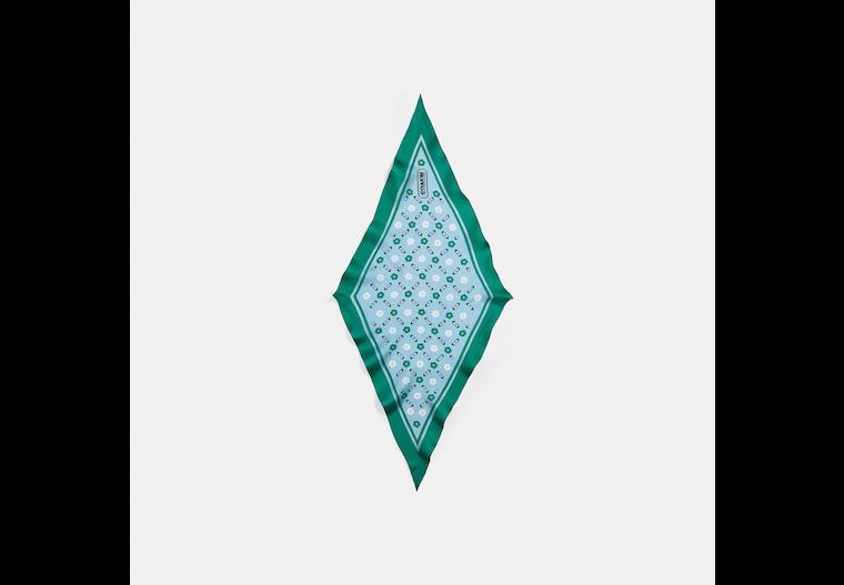 Tea Rose Print Silk Diamond Scarf image number 0