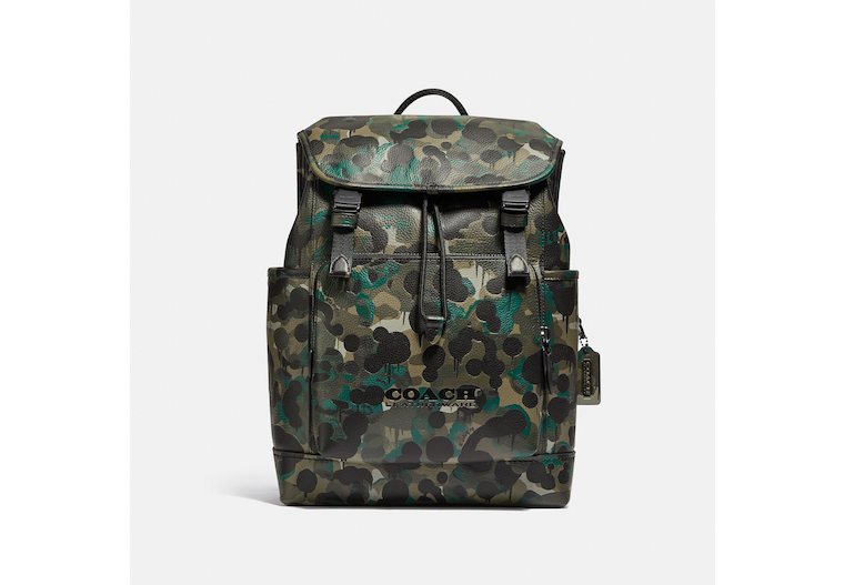 League Flap Backpack With Camo Print image number 0