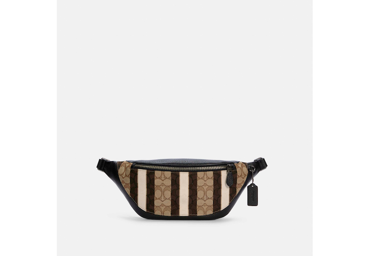 Warren Belt Bag In Signature Jacquard With Stripes image number 0