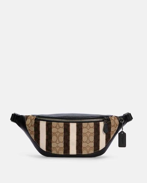 Warren Belt Bag In Signature Jacquard With Stripes