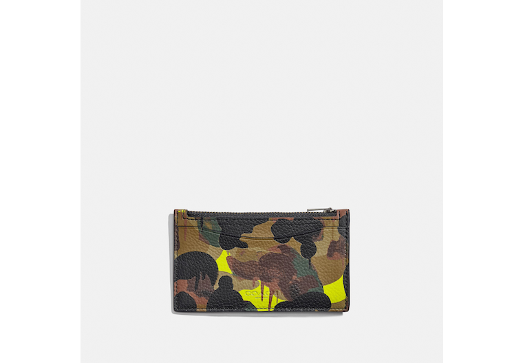 Zip Card Case With Camo Print image number 0