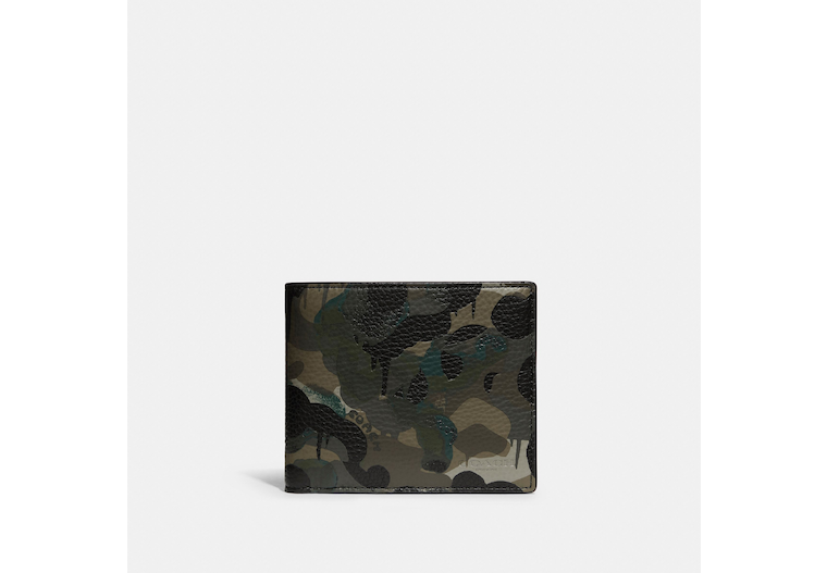 3 In 1 Wallet With Camo Print image number 0