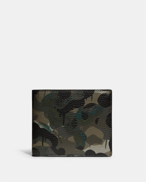 3 In 1 Wallet With Camo Print
