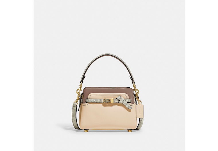 Tate 18 Crossbody With Snakeskin Detail image number 0