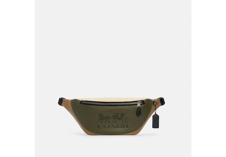 Warren Belt Bag In Colorblock With Horse And Carriage image number 0