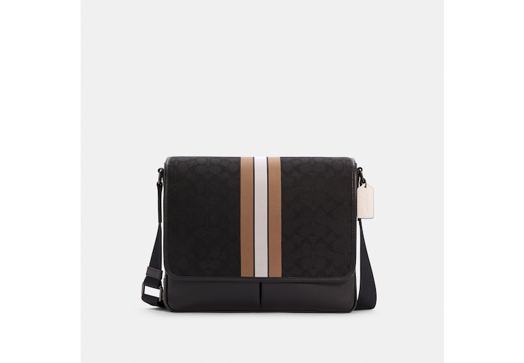 Thompson Map Bag In Signature Jacquard With Varsity Stripe image number 0