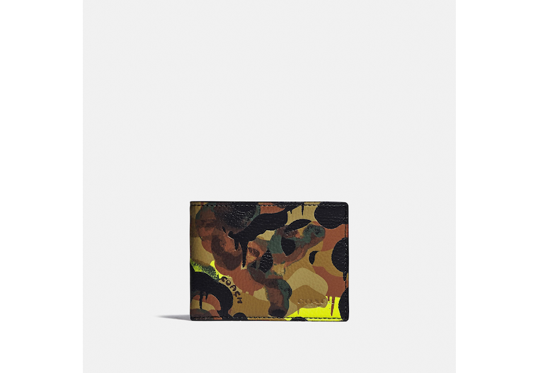Slim Billfold Wallet With Camo Print image number 0