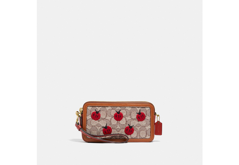 Kira Crossbody In Signature Textile Jacquard With Ladybug Motif Embroidery image number 0