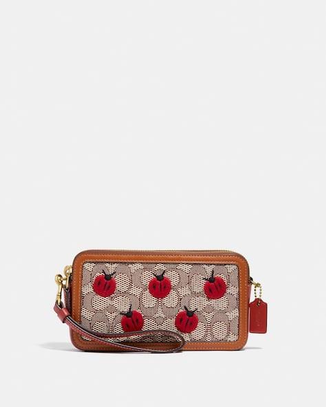 Kira Crossbody In Signature Textile Jacquard With Ladybug Motif Embroidery