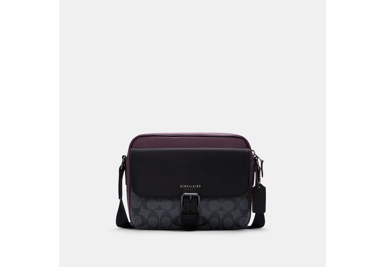 Hudson Crossbody In Colorblock Signature Canvas image number 0