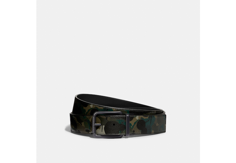Roller Buckle Cut To Size Reversible Belt With Camo Print, 38 Mm image number 0