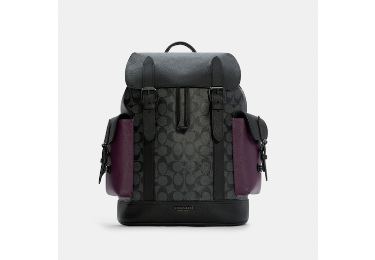 Hudson Backpack In Colorblock Signature Canvas image number 0