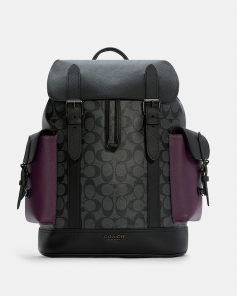 Hudson Backpack In Colorblock Signature Canvas