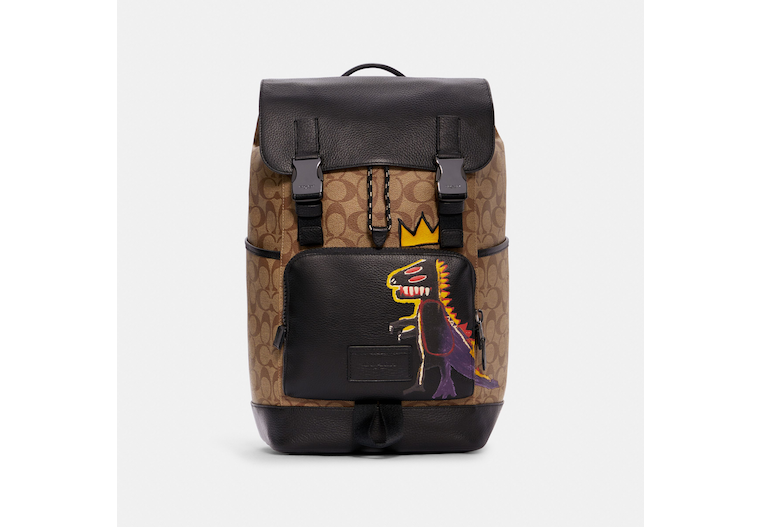 Coach X Jean Michel Basquiat Track Backpack In Signature Canvas image number 0